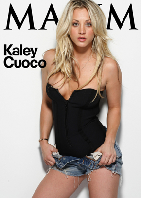 Kaley Cuoco From Maxim Cover